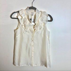 NWT J. Crew ruffle silk blouse